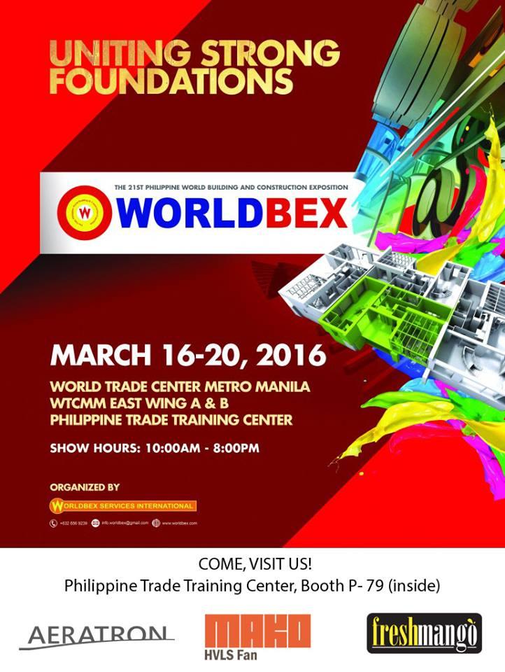 HVLS Fans WORLDBEX 2016